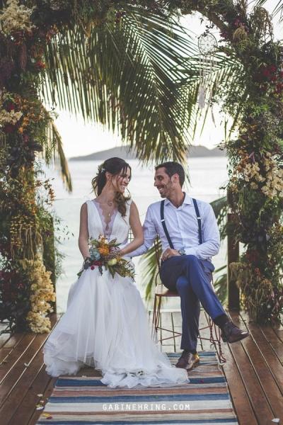 Decoração de casamento em Buzios - ao ar livre
